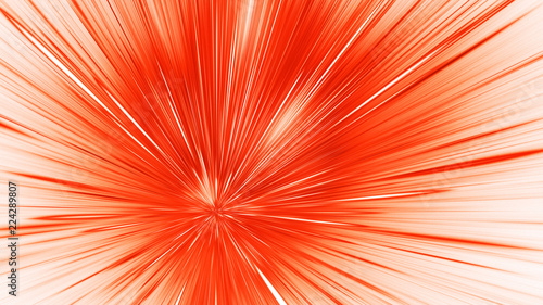 Photo  Abstract holiday background with blurred orange rays and sparkles