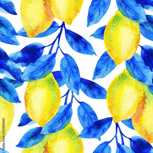akwarela-cytryny-owocowa-galaz-z-jaskrawym-blekitnym-liscia-bezszwowym-wzorem