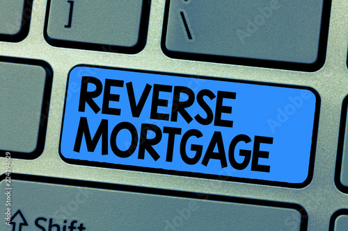 Fotografía  Text sign showing Reverse Mortgage