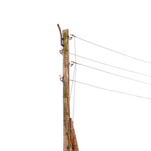 Wooden Pole With Electrical Wi...