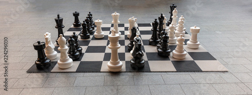 Giant chess board in Rotterdam,  banner, background Fototapete