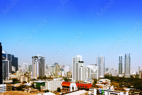 Tuinposter Bangkok Bangkok City Building and Residence with Sky