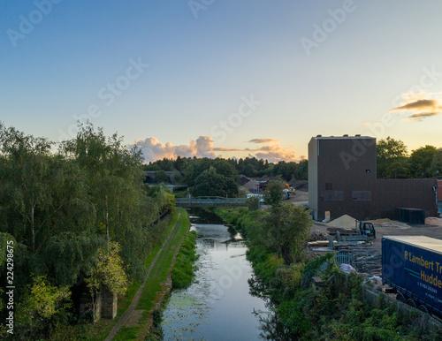 Foto op Canvas Vestingwerk Drone Shot of Canal