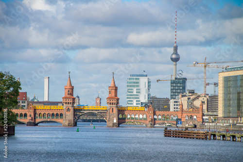 Photo  View of Berlin over river Spree in Germany