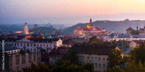 Photo sur Aluminium Europe de l Est Beautiful aerial view of Vilnius city, Lithuania