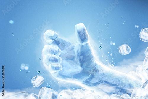 Fotografie, Obraz  Ice grabbing hand special effect