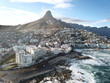 canvas print picture - Aerial view of Sea Point, Cape Town, South Africa