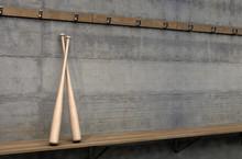 Baseball Bats In Change Room