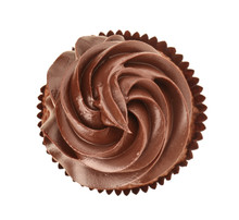 Tasty Chocolate Cupcake On Whi...