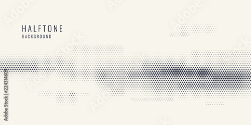 Fotografie, Obraz  Monochrome printing raster, abstract vector halftone background