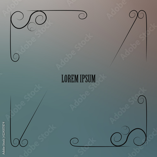 Fotografering  Cover paper sheet color with blurred background and an abstract graphic pattern