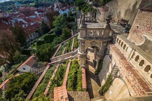 Der Palffy-Garten in Sommer in Prag, Tschechische Republik