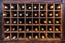 Collection Of Bottles Of Wine ...