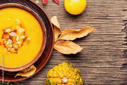 Fotografia Autumn pumpkin soup
