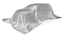 Silver Silk Covered SUV Car Co...
