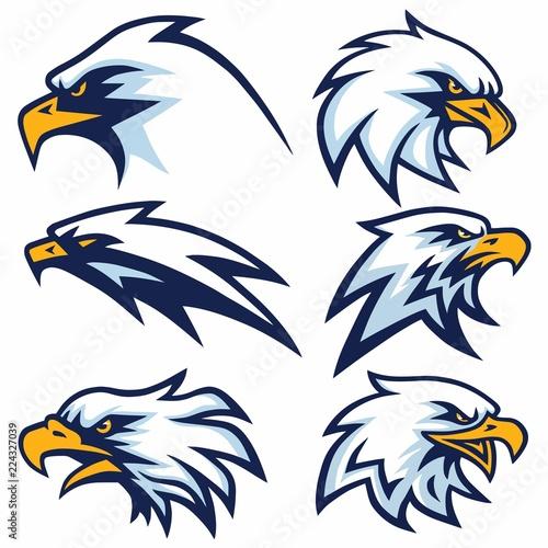 Stampa su Tela Set of Eagle Logo Vector Design