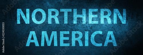 Fotografie, Obraz  Northern America special blue banner background