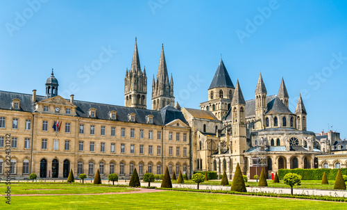 The city hall and the Abbey of Saint-Etienne in Caen, France Fototapeta