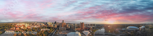 Sunset over Adelaide, South Australia Canvas Print