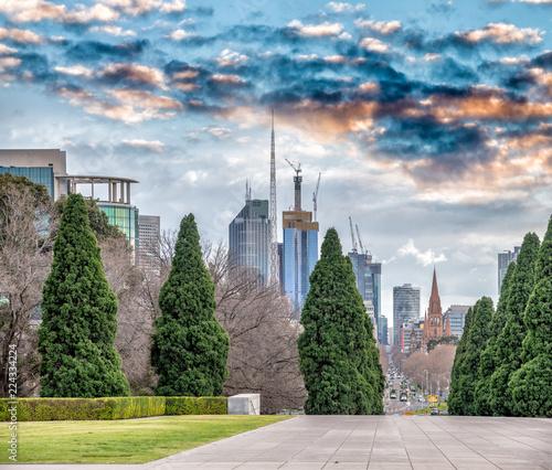 Foto op Plexiglas Oceanië Melbourne city view from Shrine of Remembrance, Victoria, Australia