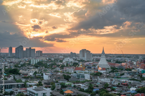 Sunset sky in outer zone of Bangkok Canvas Print