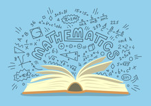 Mathematics. Open Book With Ma...