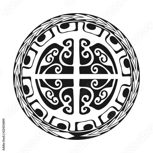 b7e533f0f Maori / Polynesian Tattoo Style Ornament - Ready for Print and used for Stencyl  as Custom