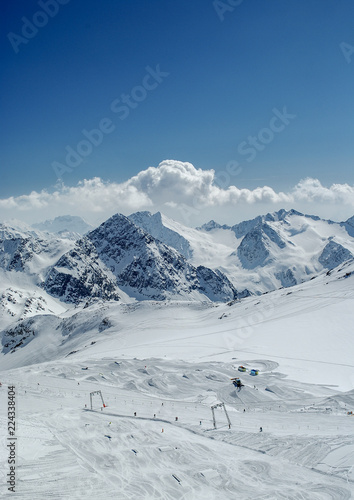View on Austria Alps in winter