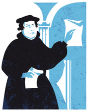 Martin Luther, Vector Illustra...