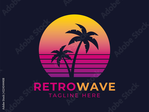 Fotografija Retrowave Logotype