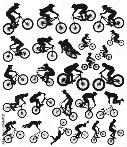 Leinwand Poster Downhill cross country freeride trial slopestyle dirt jump bmx and mountain bike