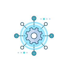 Software Testing Automation Vector Icon