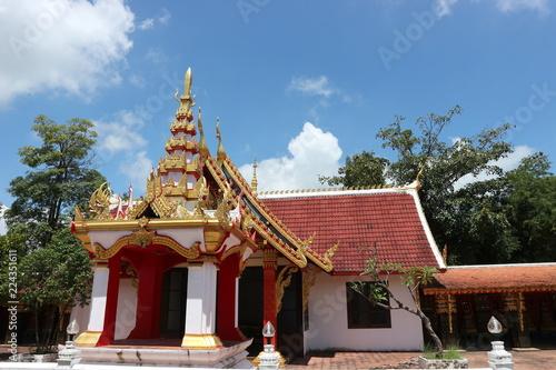 Foto op Aluminium Bedehuis temple, thai, thailand, art, bangkok, architecture, gold, religion, buddhism, buddhist, decoration, background, travel, traditional, antique, culture, ancient, asia, scene, historic, religious, worshi