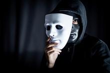 Mystery Hoody Man Wearing Blac...