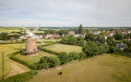 Canvas Print Thaxted Windmill and village, Essex, England