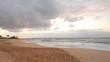 Early morning sunrise at Sandy Beach in Honolulu on the island of Oahu, Hawaii.