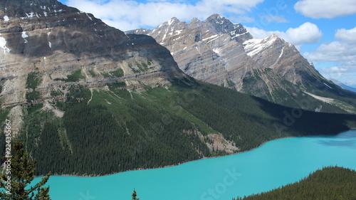 Poster Bergen Lake Peyto, Banff National Park, Alberta, Canada