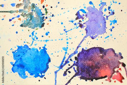 Papiers peints Visage de femme Abstract design watercolor picture painting illustration background