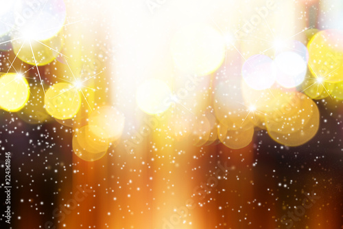 Fotografía  Abstract blurred light with snow background