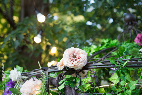 Deurstickers Waterlelies Garden wedding flowers arrangement