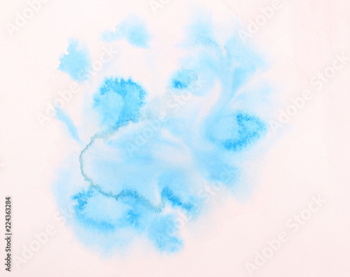 Türaufkleber Rauch Abstract design watercolor picture painting illustration background