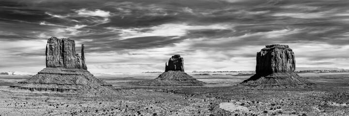 Panorama Monument Valley USA schwarzweiß