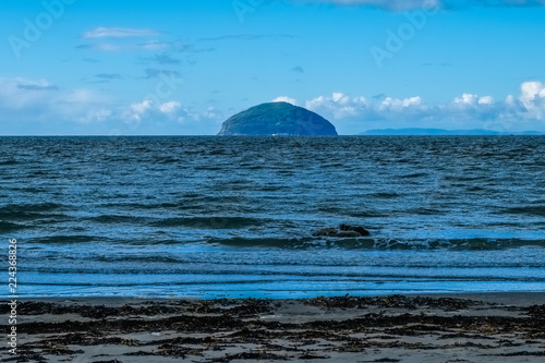 Ailsa Craig,  Seaweed, Cold Water and Sand in Scotlands South West Coast Canvas Print