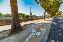 Bike Lane By Seine River With ...
