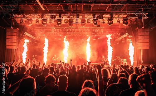 Fotografie, Obraz Koncert, zdjęcie zostało wykonane podczas koncertu zespołu metalowego