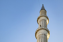 Mosque Minaret And Blue Sky