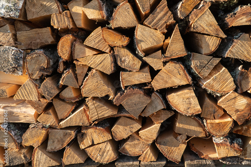 Firewood texture. Background