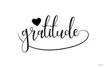 Gratitude Typography Text With...