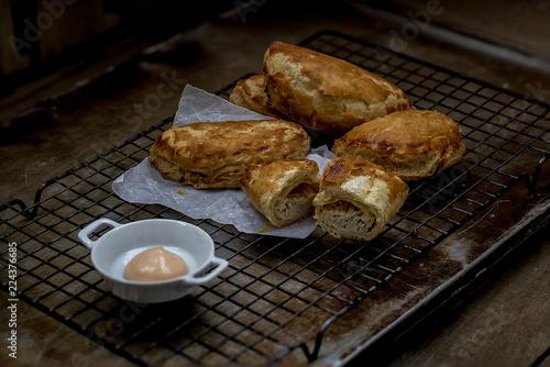 Bakery made of flaky dough