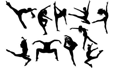 Jazz Dance svg, dance cricut files,  black dancer silhouette Vector clipart, ...
